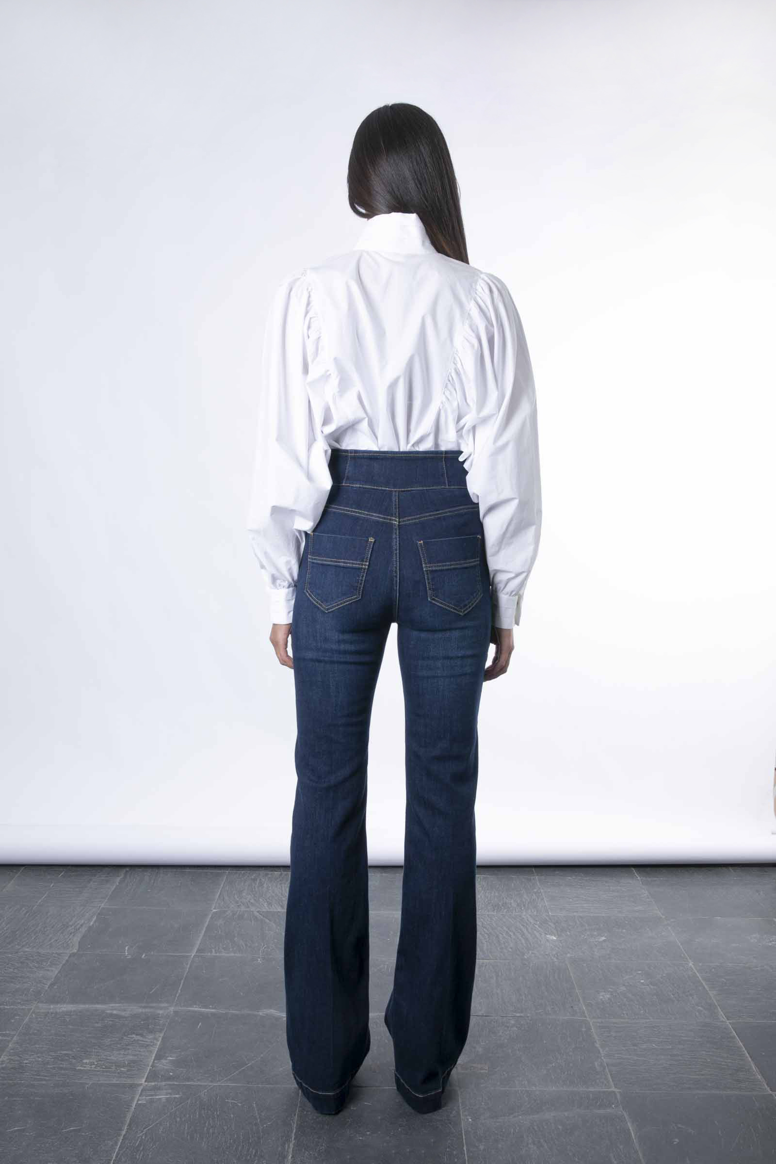 Jeans con abbottonatura alta light gold ELISABETTA FRANCHI   Pantaloni   PJ23S16E2139