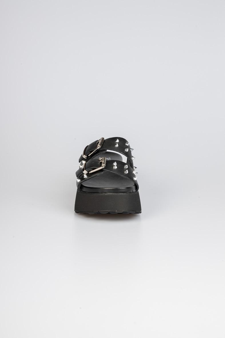 JANIS 3146 SANDAL W LEATHER BLACK/SILVER CULT | Sandali | CLE104357BLACK/SILVER
