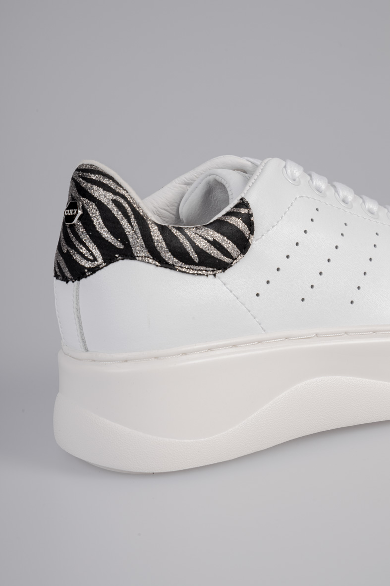 PERRY 3162 LOW W LEATHER/GLITTER WHITE/ZEBRA CULT   Sneakers   CLW316209WHITE/ZEBRAT