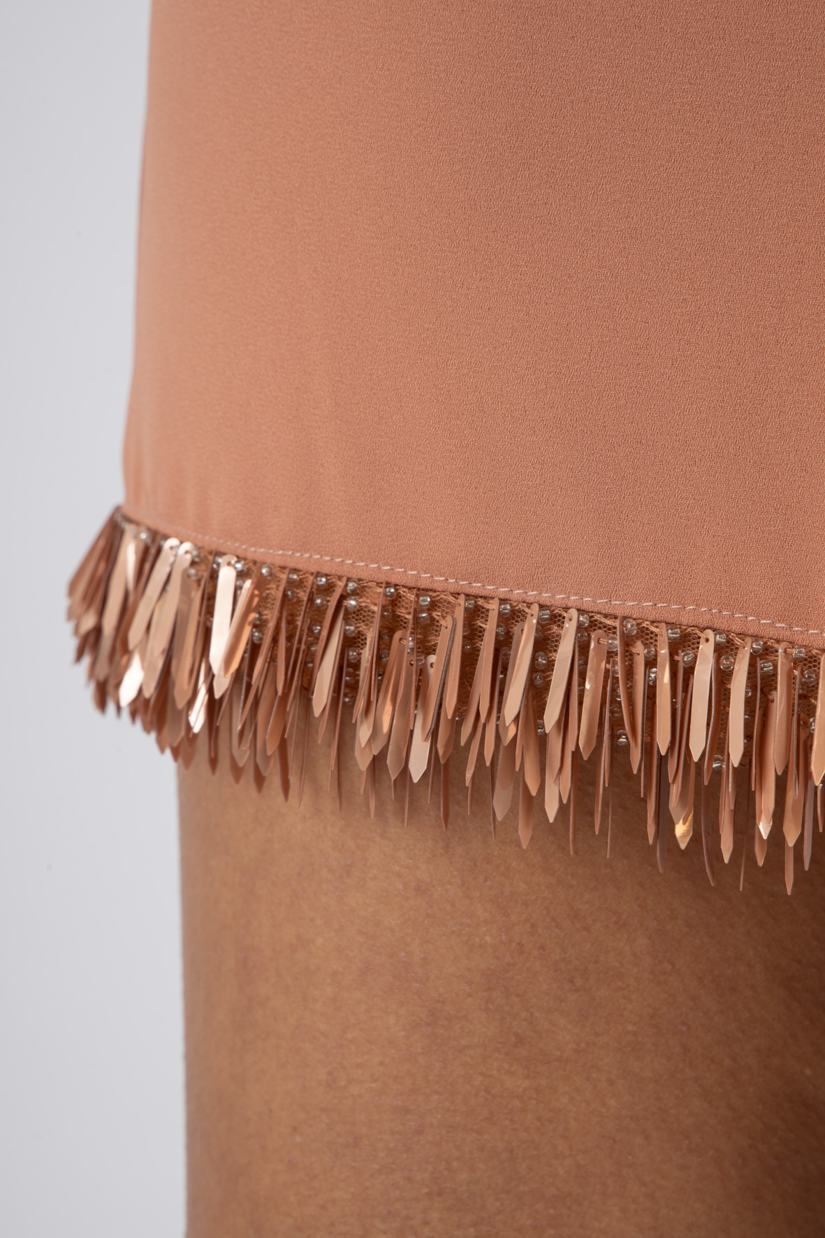 Mini dress con ricamo effetto frangia ELISABETTA FRANCHI | Abito | AB13711E2W71