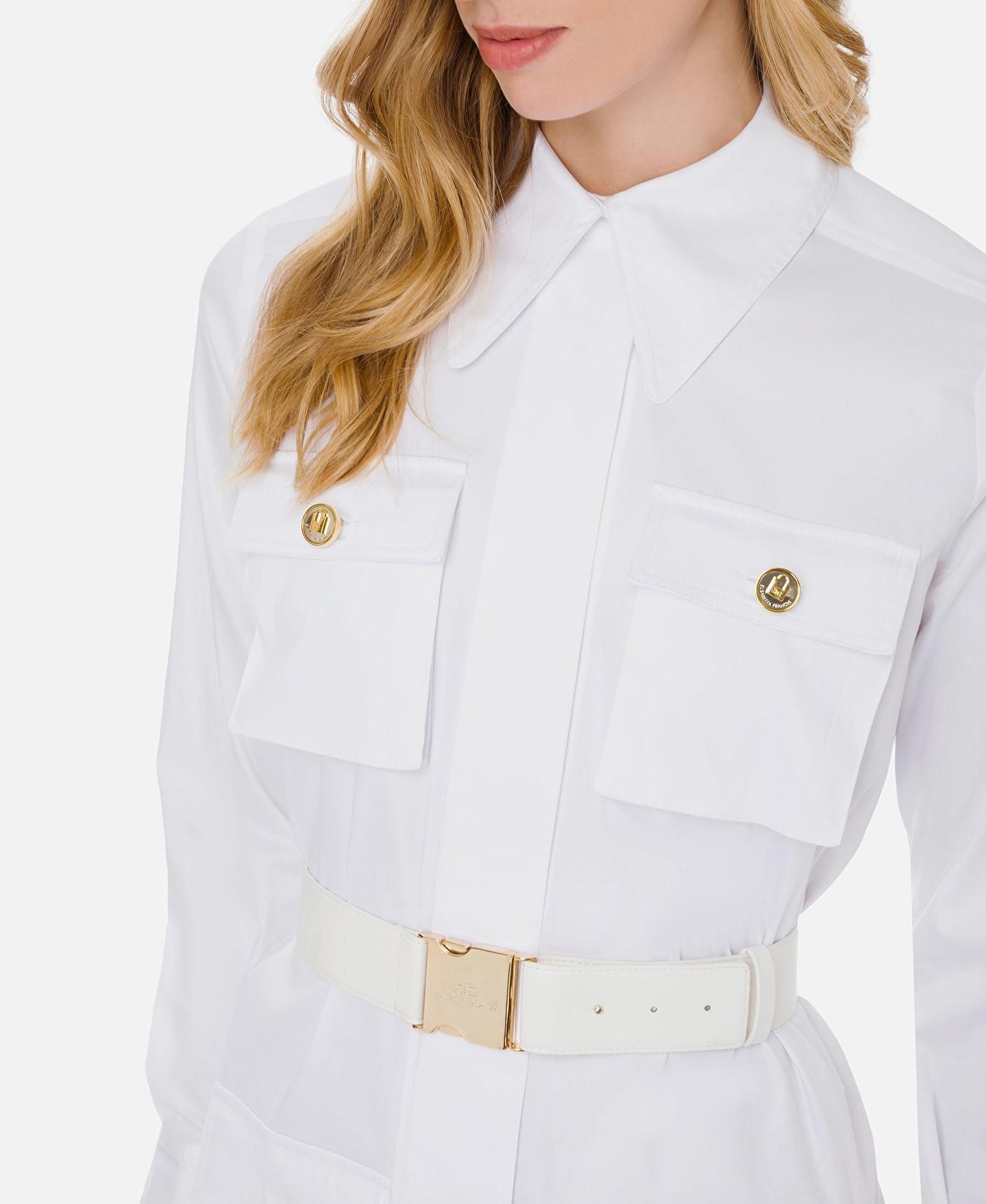 Abito camicia in raso con cintura ELISABETTA FRANCHI   Abito   AB14211E2100