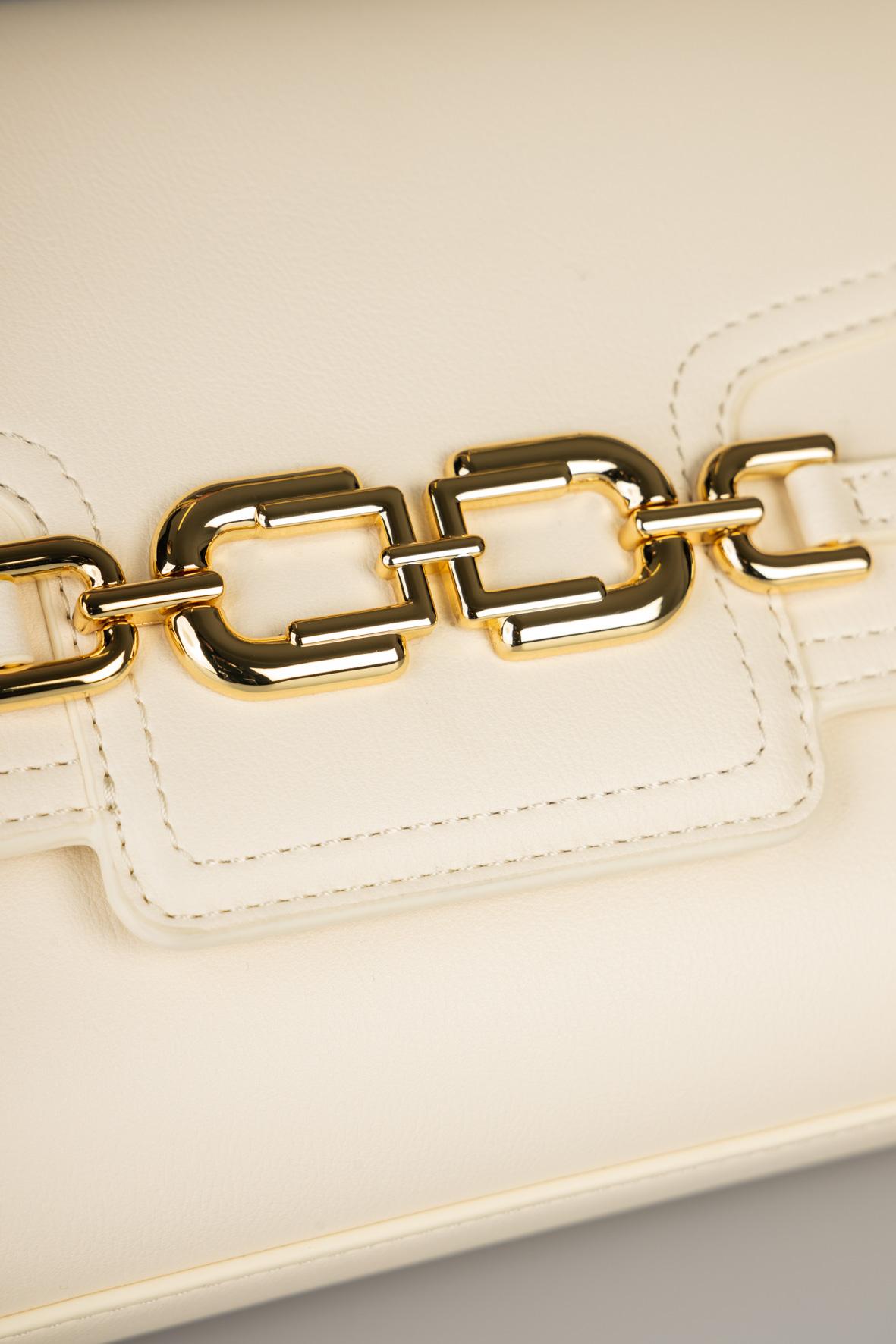 Borsa media con morsetto light gold ELISABETTA FRANCHI | Borsa | BS08A11E2193