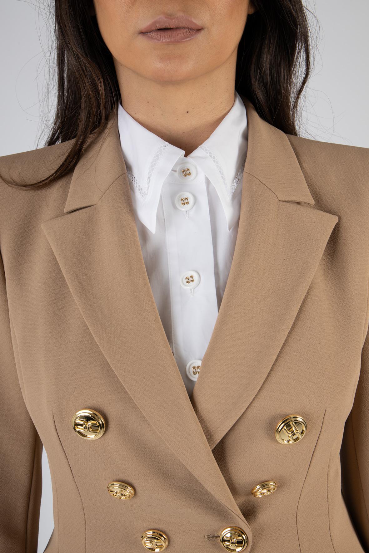 Giacca corta con bottoni oro light ELISABETTA FRANCHI | Giacca | GI97011E2390