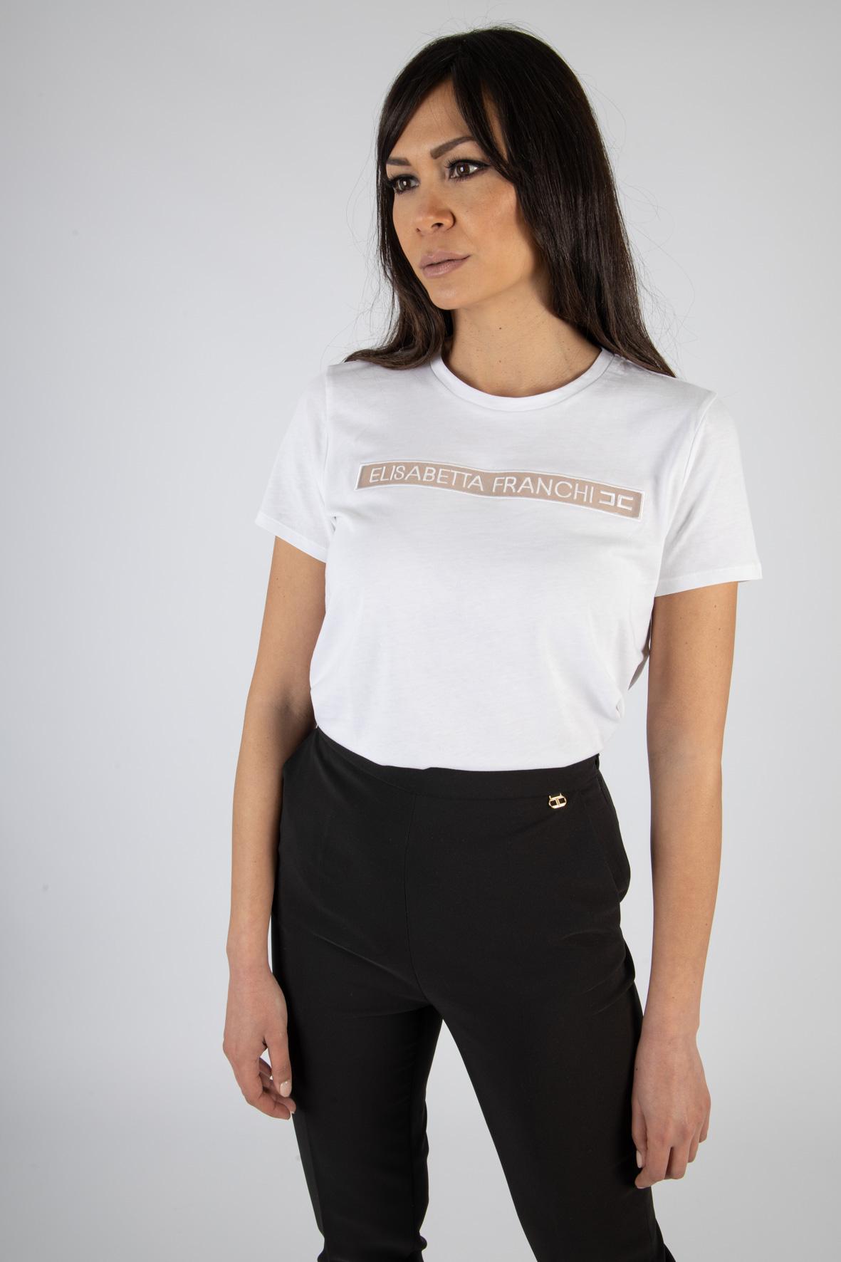 T-shirt Elisabetta Franchi con stampa ELISABETTA FRANCHI | T-shirt | MA18411E2270
