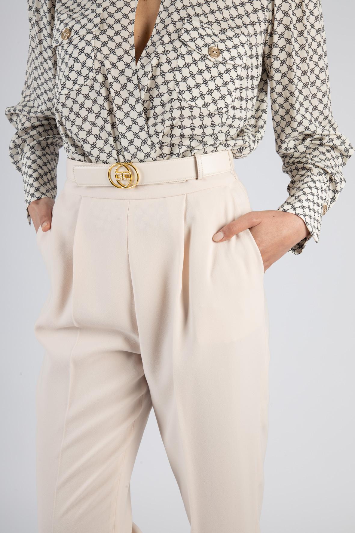 Pantalone skinny con cintura ELISABETTA FRANCHI | Pantaloni | PA38211E2686