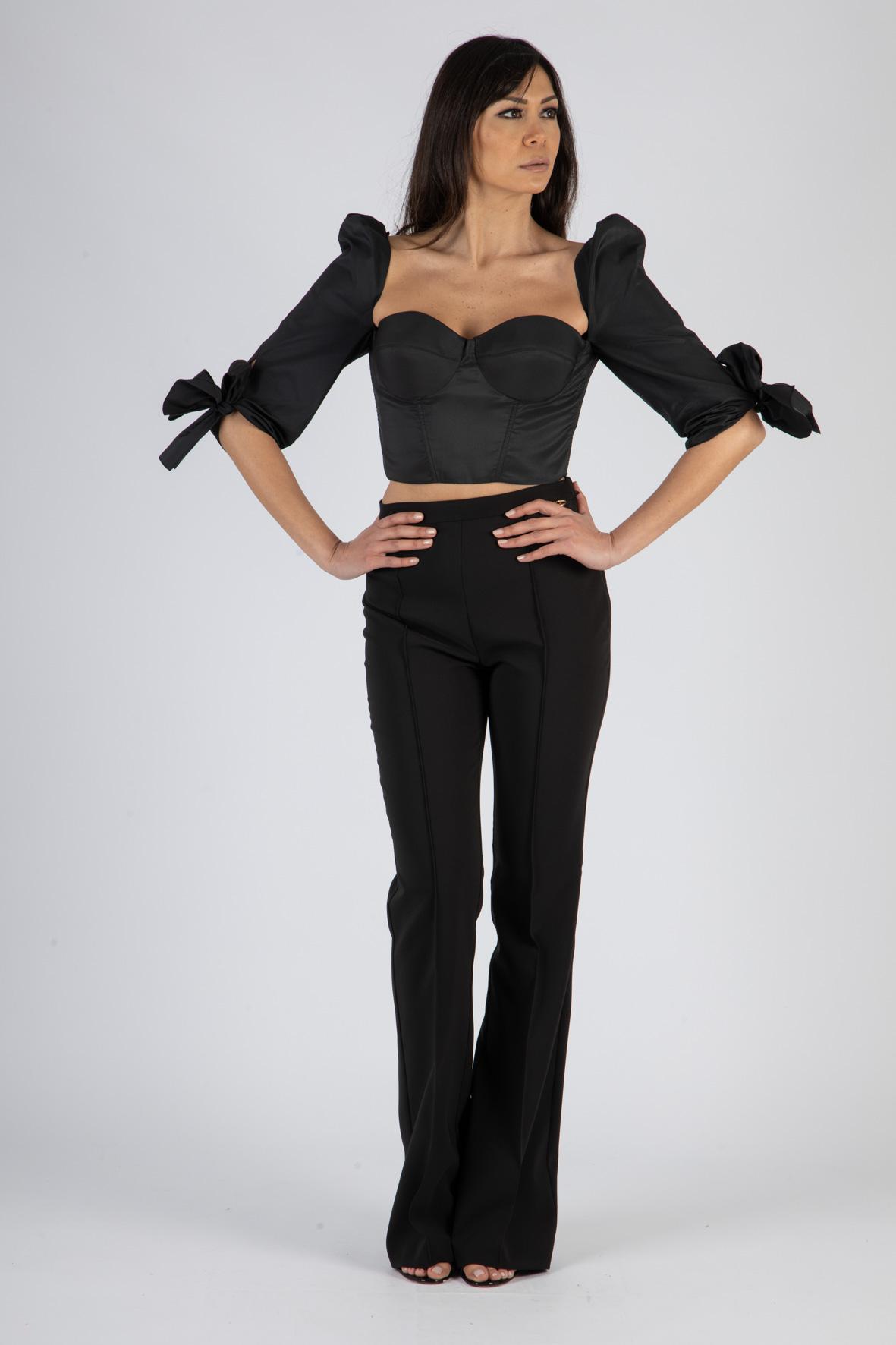 Pantalone skinny a zampa ELISABETTA FRANCHI | Pantaloni | PA38411E2110