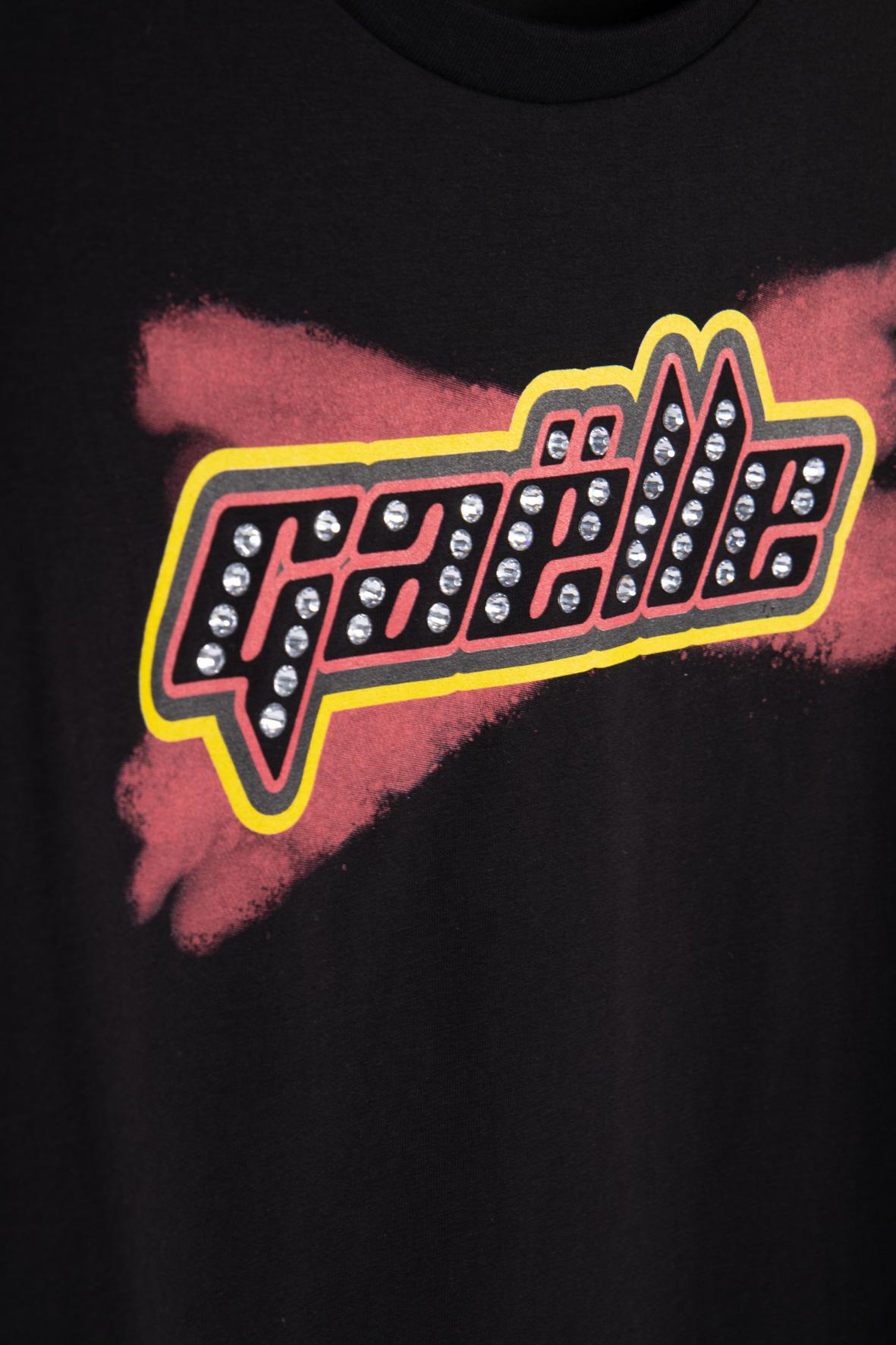 T-SHIRT IN BIELASTICO GAELLE | T-shirt | GBD8448NERO