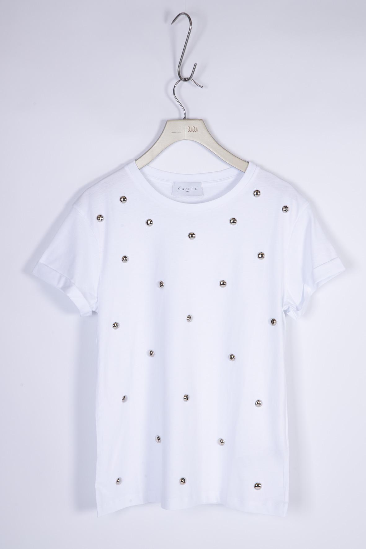 T-SHIRT IN JERSEY GAELLE | T-shirt | GBD8715BIANCO