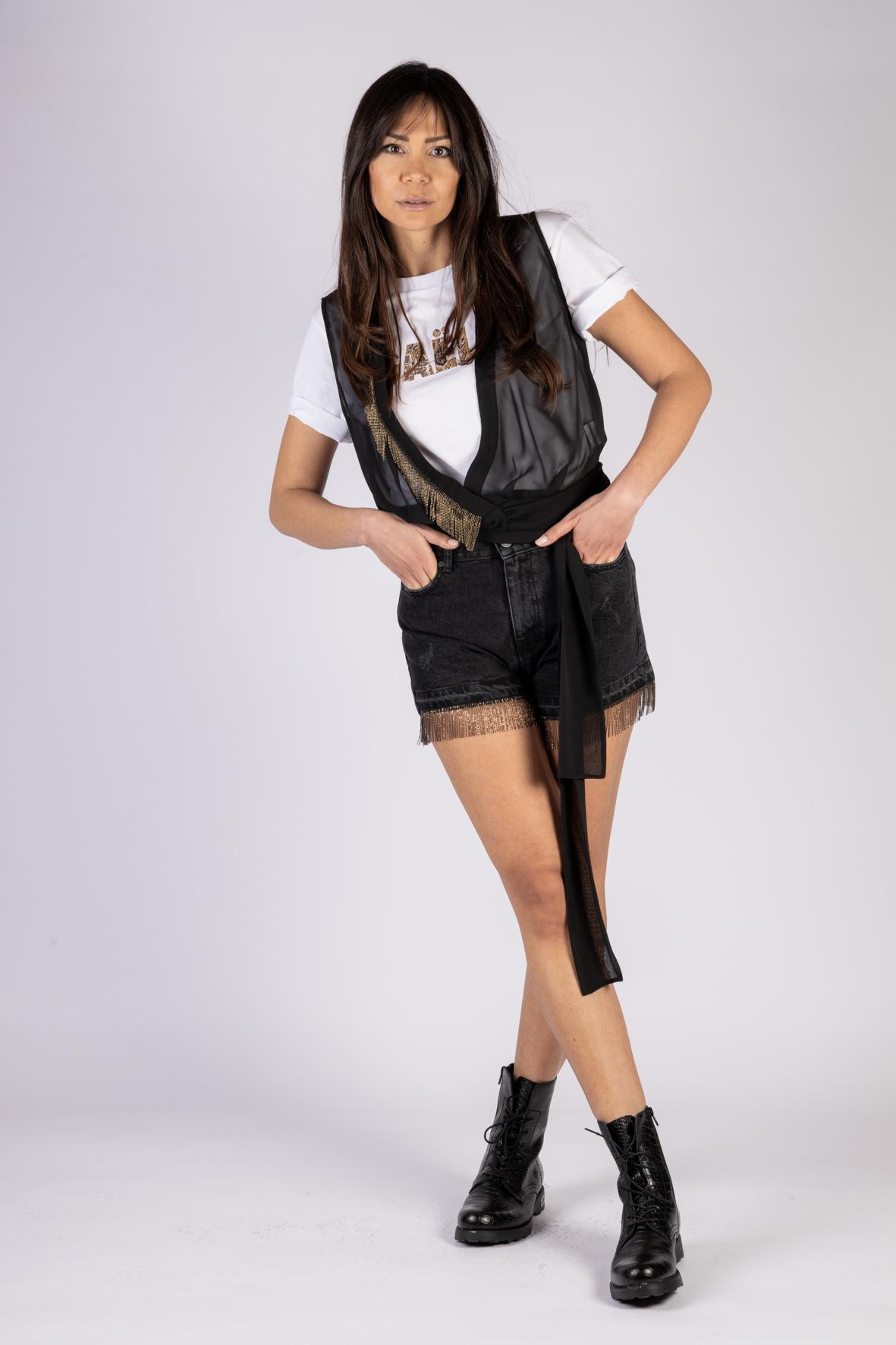 T-SHIRT IN JERSEY GAELLE | T-shirt | GBD8880BIANCO