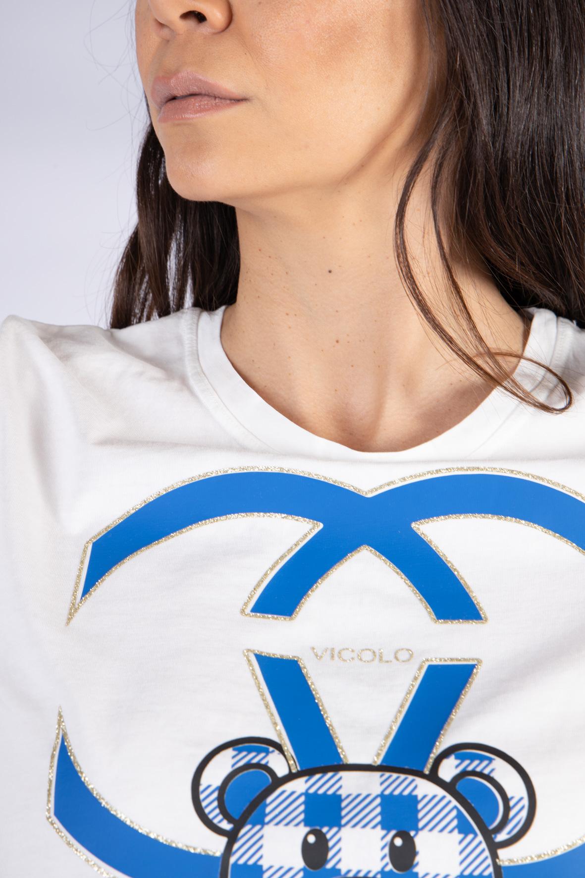 Vicolo T-Shirt Teddy VICOLO | T-shirt | RH0155BLU