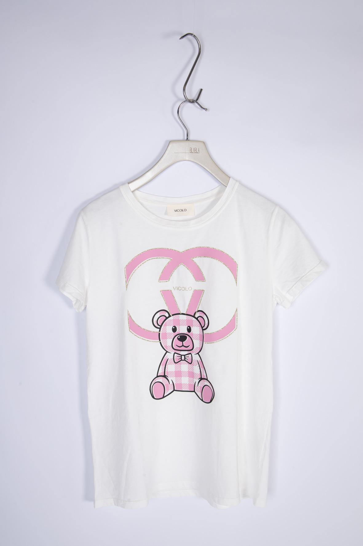Vicolo T-Shirt Teddy VICOLO | T-shirt | RH0155ROSA