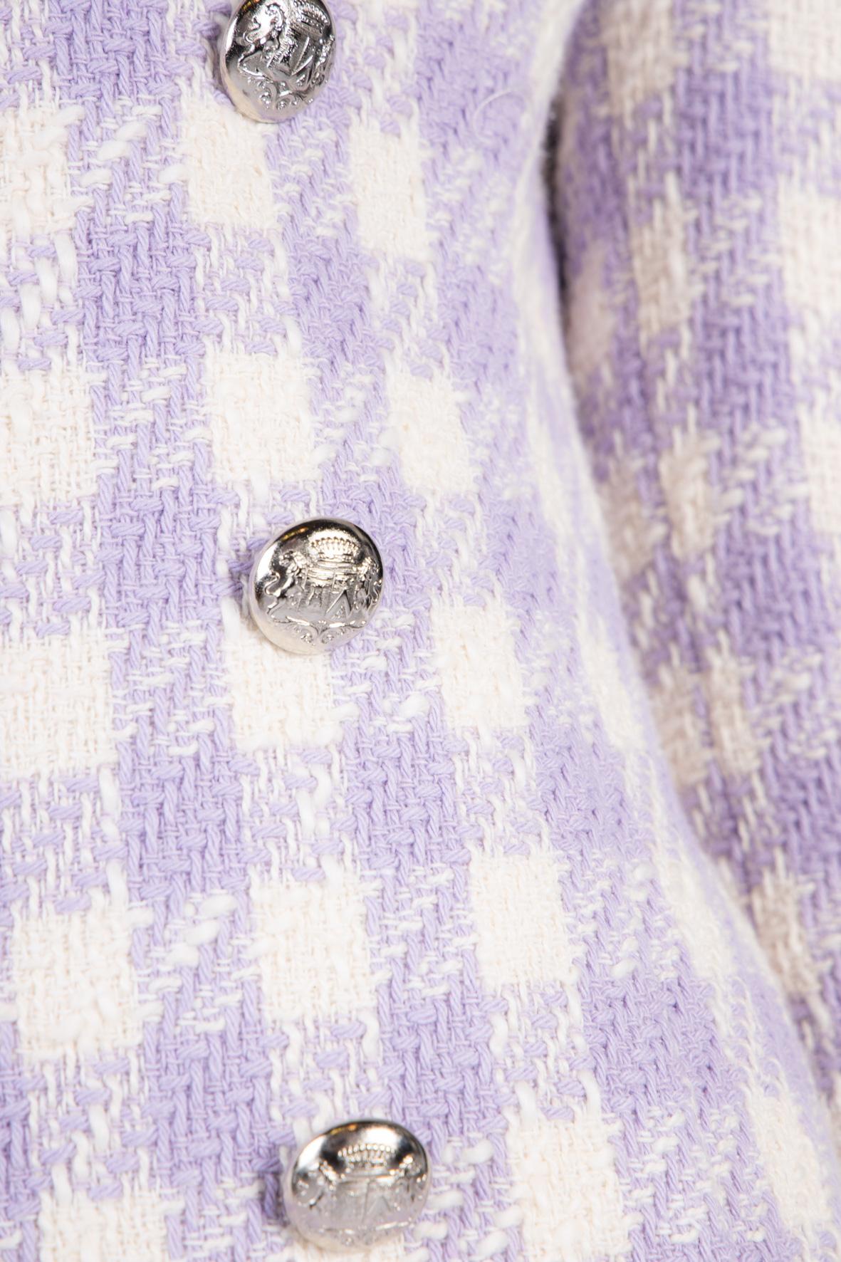 Giacca Tweed a Quadri VICOLO | Giacca | TH0495GLICINE