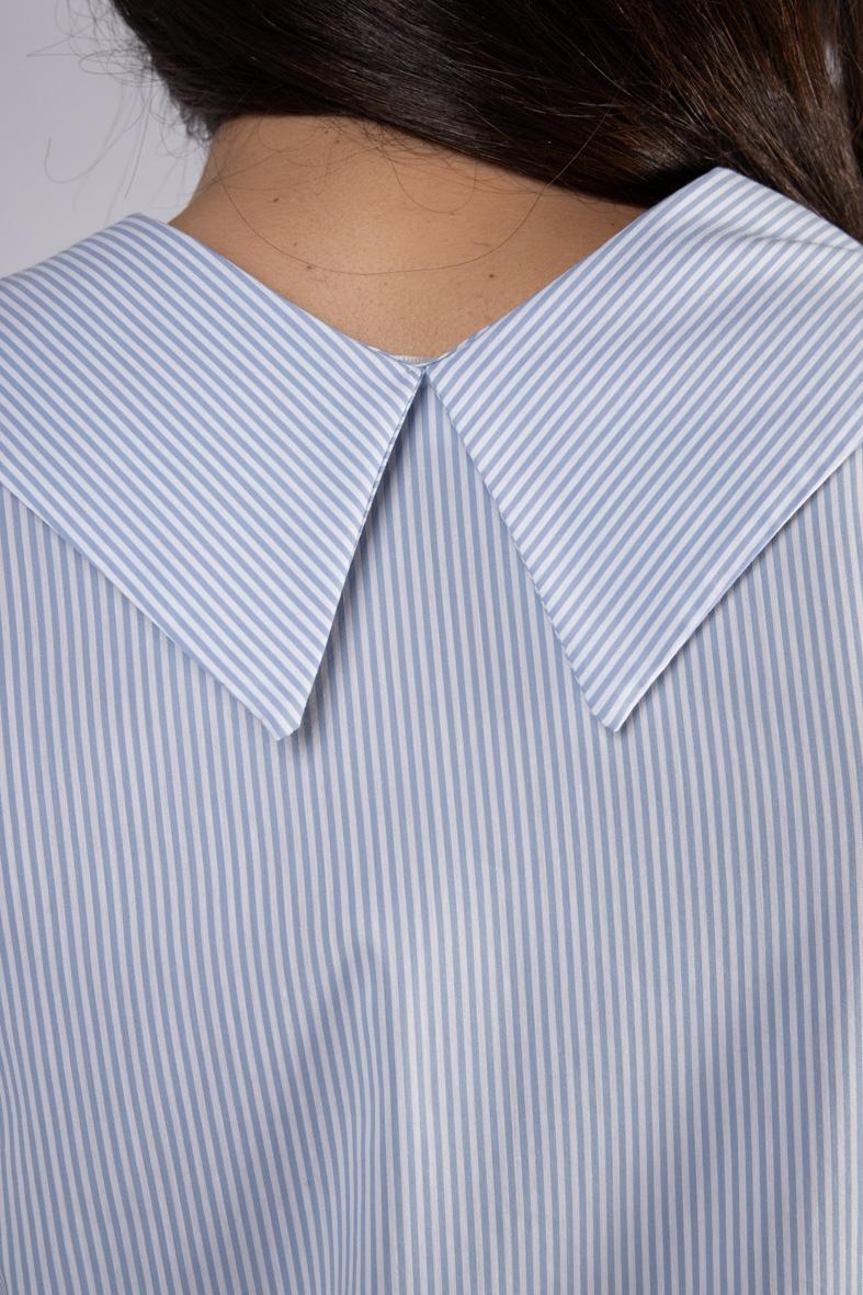 VICOLO | Shirt  | TH0917CELESTE/BIANCO