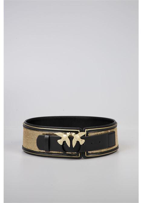Cintura Pelle Nera/Oro Pinko | Cintura | 1P21KB-Y5V4ZH2