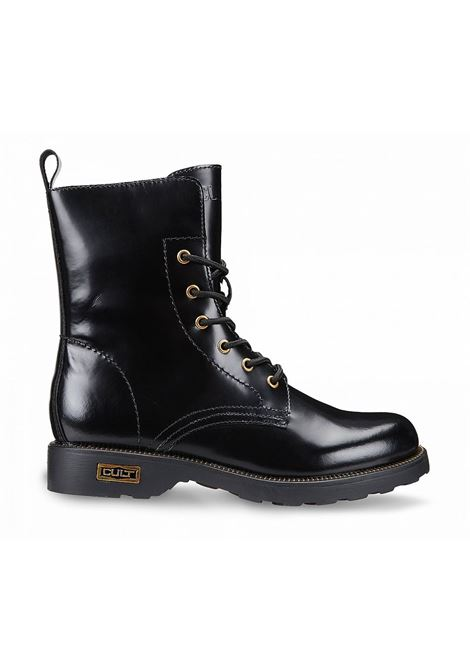 ZEPPELIN 472 MID W BRUSHED LEATHER BLACK/GOLD ACC. CULT | Scarpe | CLE101699Black/Gold