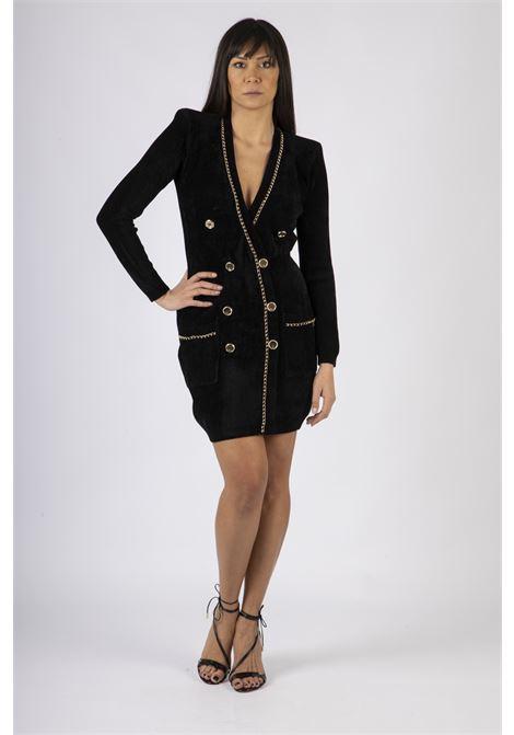 Robe manteau in maglia con catena dorata ELISABETTA FRANCHI | Abito | AM82S07E2110