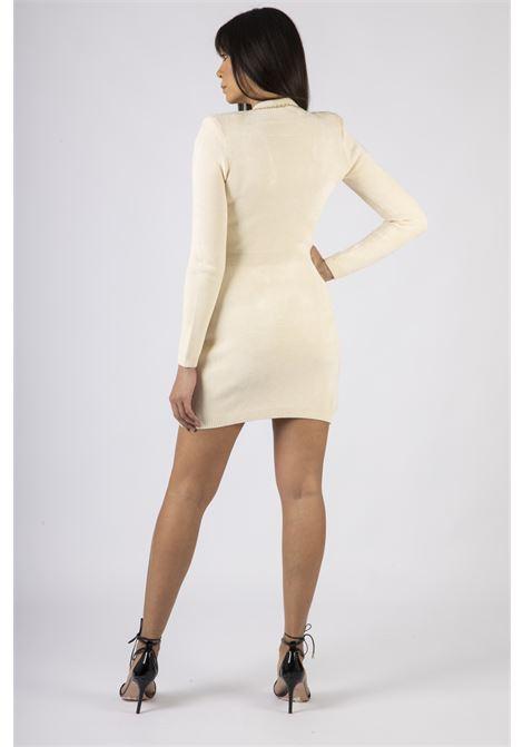 Robe manteau in maglia con catena dorata ELISABETTA FRANCHI | Abito | AM82S07E2193