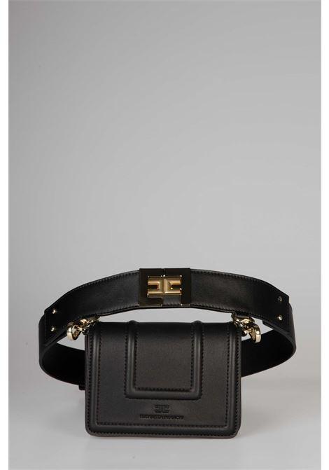 Belt bag con logo dorato EF ELISABETTA FRANCHI | Marsupio | BM10A06E2110
