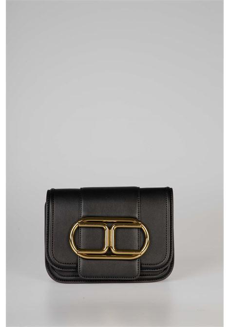 Mini clutch bag con tracolla a catena e maxi logo ELISABETTA FRANCHI   Borsa   BS80A06E2110