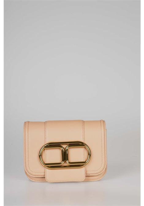 Mini clutch bag con tracolla a catena e maxi logo ELISABETTA FRANCHI   Borsa   BS80A06E2W71
