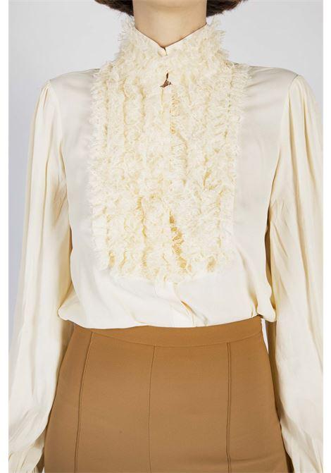 Camicia in georgette con manica a sbuffo ELISABETTA FRANCHI | Camicia | CA29006E2193