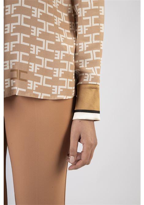 Camicia con stampa logo e piping a contrasto ELISABETTA FRANCHI | Camicia | CA30306E2614