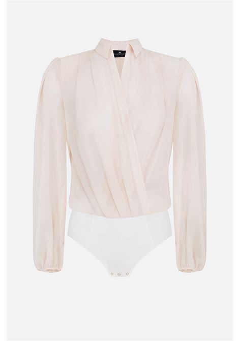Camicia a body con maniche a sbuffo ELISABETTA FRANCHI | Camicia | CB00906E2360