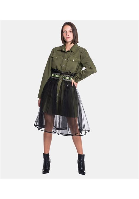 GAELLE | Dress  | GBD7405V.MILITARE