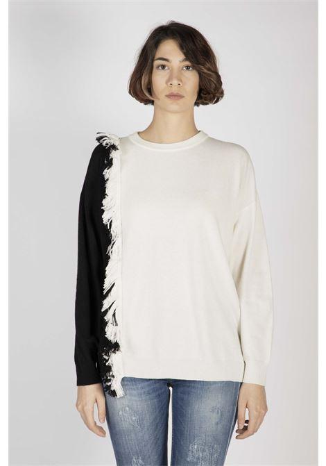 Pullover Bicolore Bianco E Nero Manila Grace | Pull | M220WUMD278