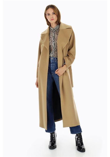 Cappotto lungo con revers e cintura PLEASE | Cappotto | K493GCARIN1806