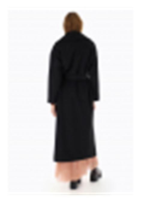 Cappotto lungo con revers e cintura PLEASE | Cappotto | K493GCARIN1900