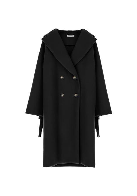 Cappotto doppiopetto con cappuccio e frange PLEASE | Cappotto | K493GLIPA1900