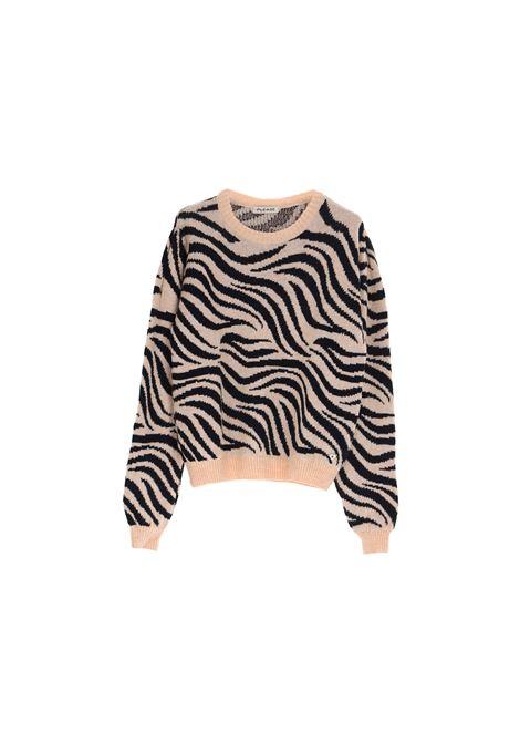 maglione zebrato in misto mohair PLEASE | Maglia | M3614LLAF1242
