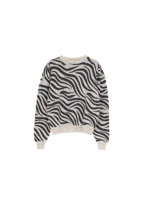 maglione zebrato in misto mohair PLEASE | Maglia | M3614LLAF2134