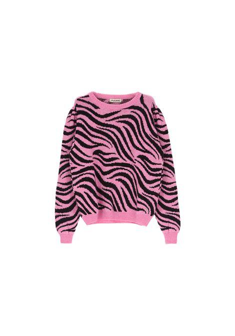 maglione zebrato in misto mohair PLEASE | Maglia | M3614LLAF3337