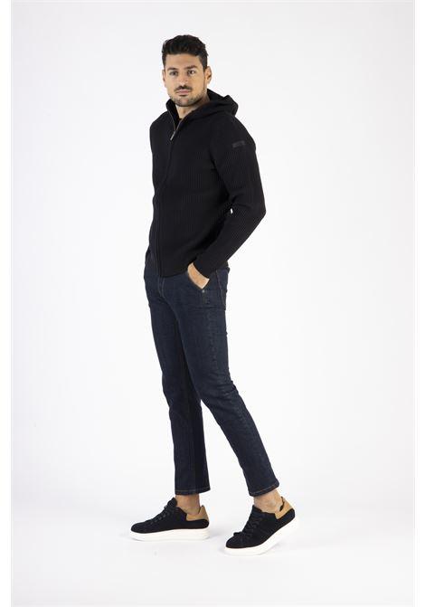 Knit Cotton 7 Hood RRD | Maglia zip | W2012360