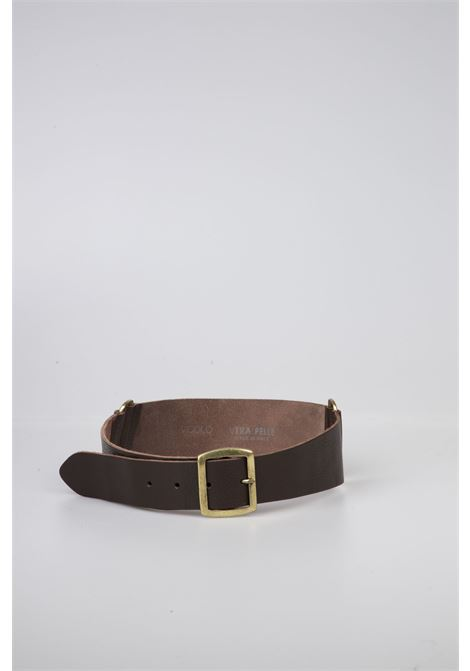 Cintura Pelle Vita Alta VICOLO | Cintura | AW0023MARRONE