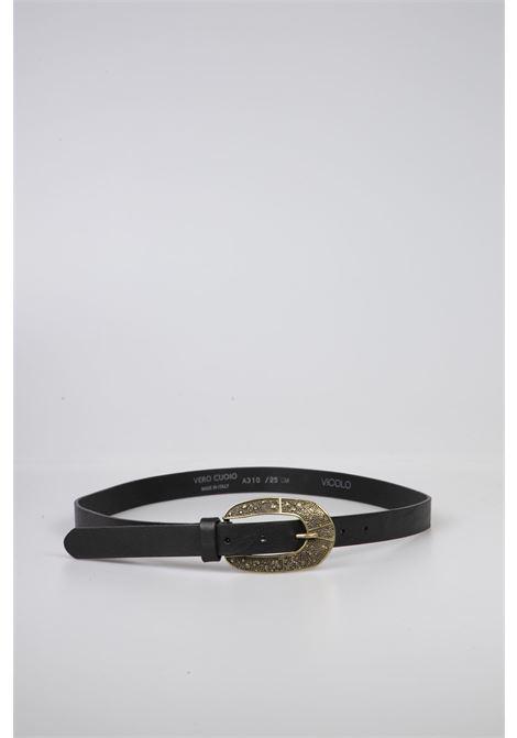 Cintura Pelle Nera VICOLO | Cintura | AW0041NERO