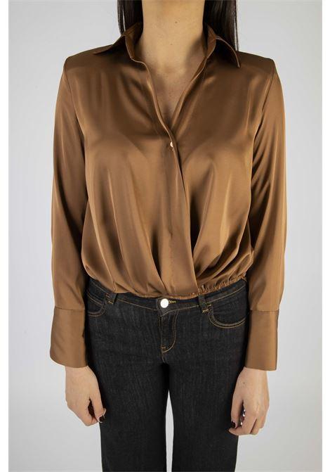 Camicia/Blusa Asimmetrica VICOLO | Camicia | TW1431BRONZO