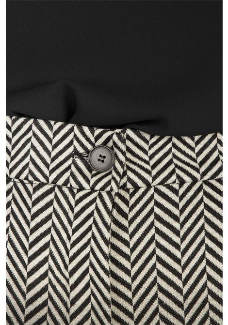 Pantaloni Punto Stoffa VICOLO | Pantaloni | TW1432NERO/BIANCO