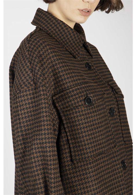 VICOLO | Coat | TW1491NERO/MARRONE