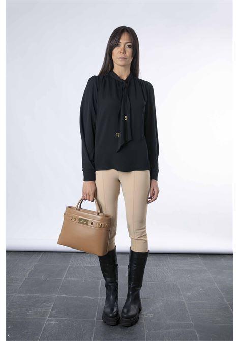 Camicia con iniziali light gold ELISABETTA FRANCHI | Camicia | CA30316E2110