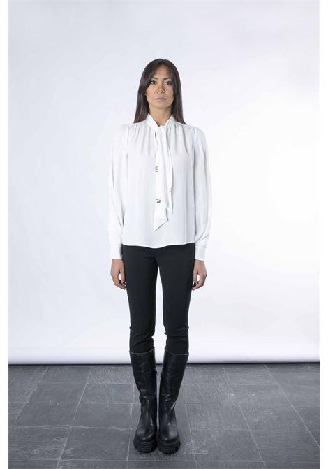 Camicia con iniziali light gold ELISABETTA FRANCHI | Camicia | CA30316E2360