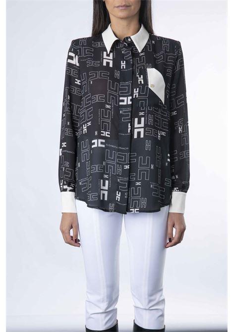 Camicia in georgette con con stampa logo bicolor ELISABETTA FRANCHI | Camicia | CA33216E2685