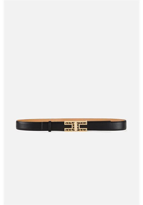Cintura con logo e lucchetto pendente ELISABETTA FRANCHI | Cintura | CT13S16E2110