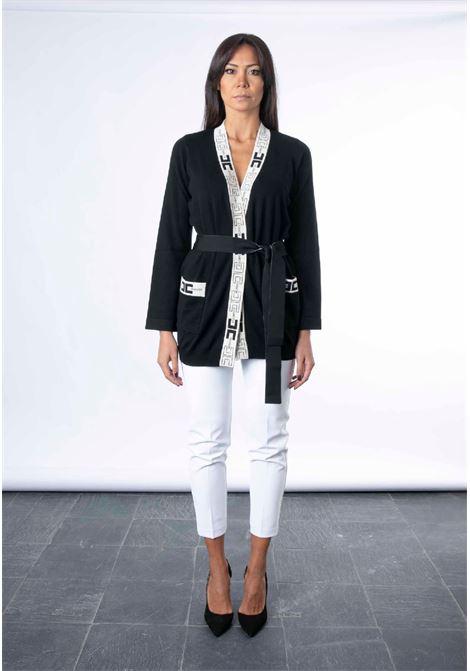 Cardigan a vestaglia con logo ELISABETTA FRANCHI | Maglia | MK53S16E2685