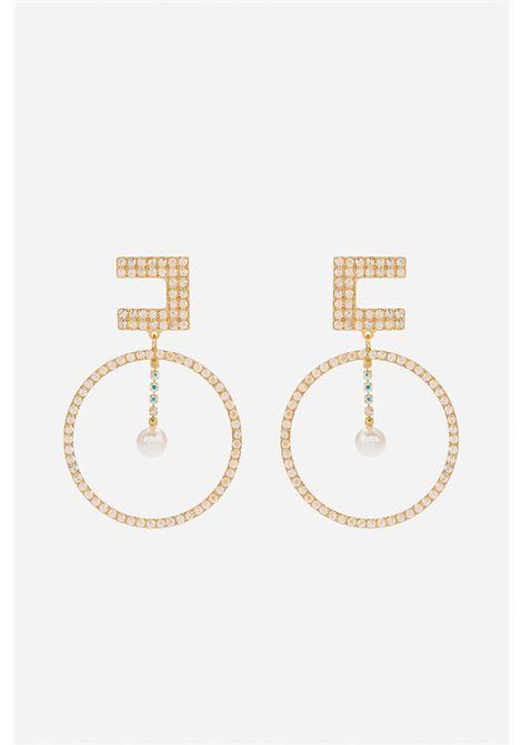Orecchini pendenti con perle ELISABETTA FRANCHI | Orecchini | OR02A16E2610