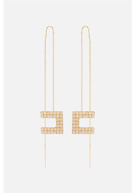 Orecchini pendenti micro catena ELISABETTA FRANCHI | Orecchini | OR03A16E2610
