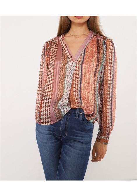 Blusa multifantasia a maniche lunghe PLEASE | Camicia | C0R6AHI0001285