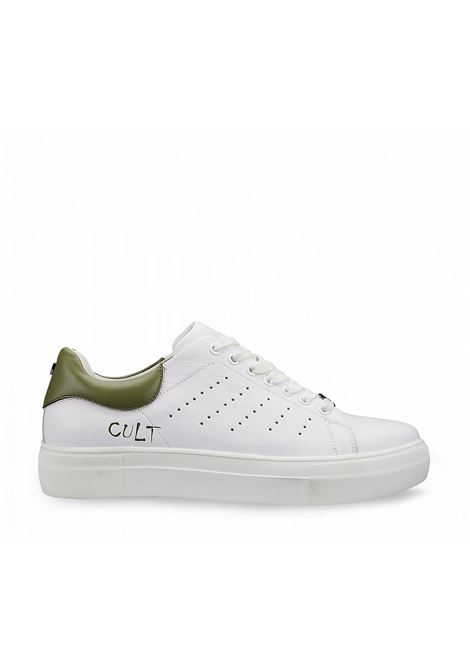 LEMMY 3291 LOW M LEATHER WHITE/MILITARY GREEN CULT | Sneakers | CLM329103WHITE/MILITARYGREEN